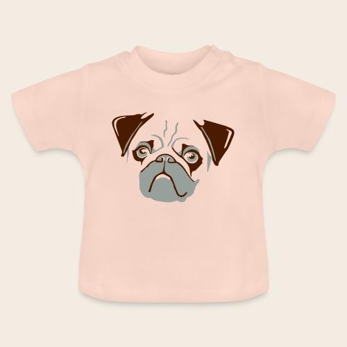 otiz mops kopf 2farbig - Baby T-Shirt