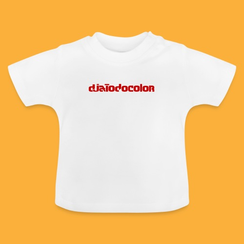 DJATODOCOLOR LOGO ROJO - Camiseta bebé