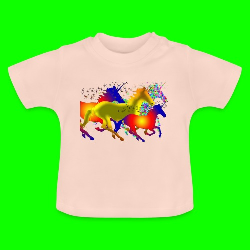 unicorn horses - Baby-T-shirt