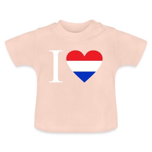 Ik hou van Nederland | Hart met rood wit blauw - Baby T-shirt