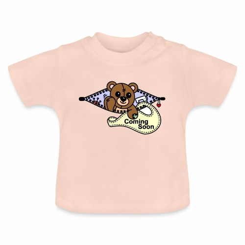 Bärchen Nähmaschine Coming Soon - Baby T-Shirt