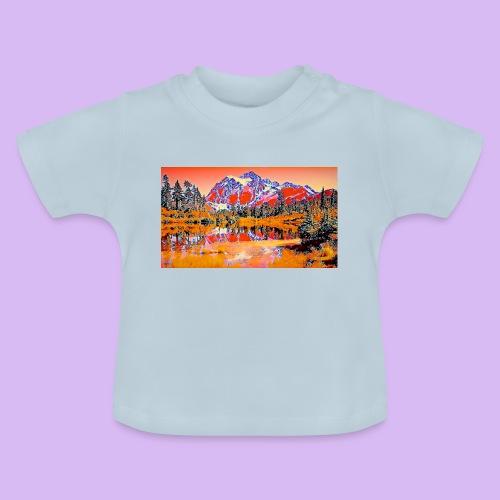 Montagne rosse punteggiate - Maglietta per neonato