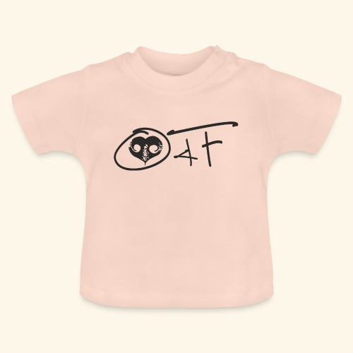 O4F NERO - Maglietta per neonato