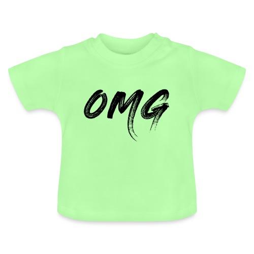 OMG, musta - Vauvan t-paita
