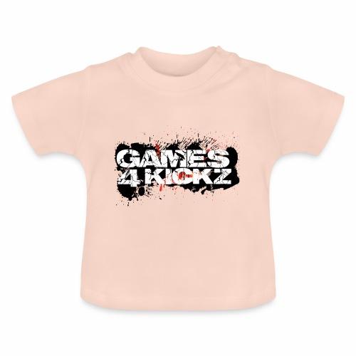 Games4Kickz Logo Splattered Background - Baby T-Shirt