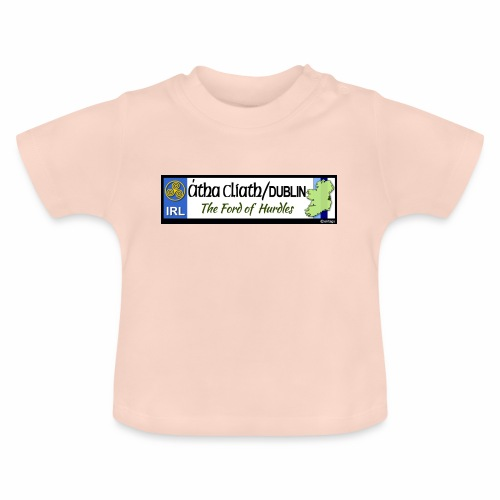 CO. DUBLIN, IRELAND: licence plate tag style decal - Baby T-Shirt