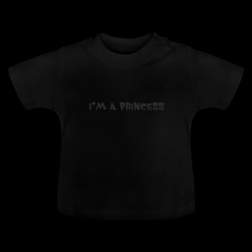 im a princess schwarz - Maglietta per neonato
