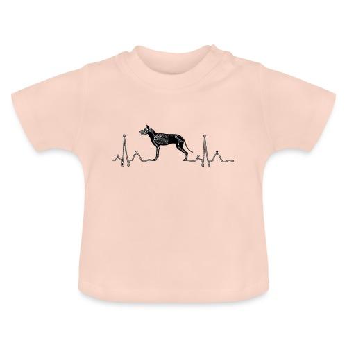 ECG met hond - Baby T-shirt