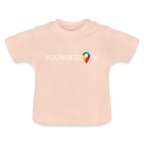 FoundedX logo white png - Baby T-Shirt
