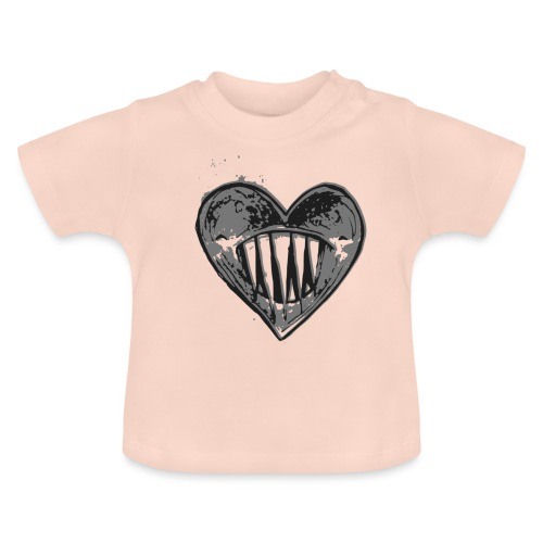 Corazón Negro - Camiseta bebé