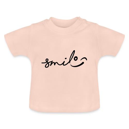 Smile met een knipoog. Lachen, lachend gezicht. - Baby T-shirt
