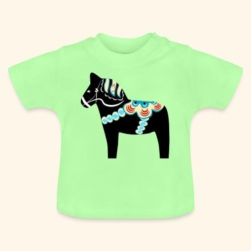 Svart dalahäst - Baby-T-shirt