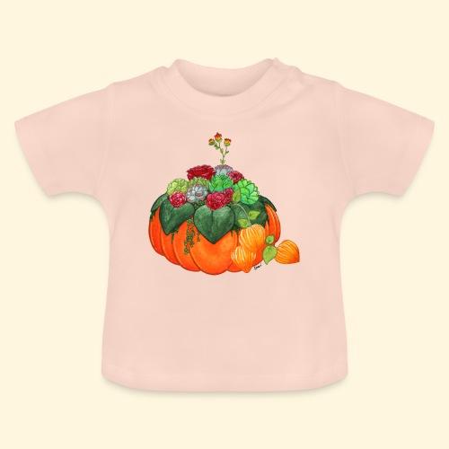Bouquet d'automne : Succulentes et citrouille - T-shirt Bébé