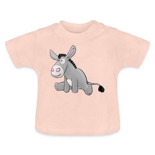 Esel - Kuschelesel sitzend - Baby T-Shirt