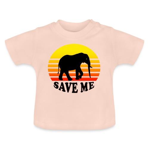 Elefant SAVE ME Schattenriss Sonne - Baby T-Shirt