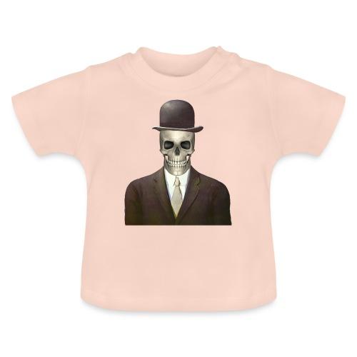 magritte skull - Maglietta per neonato
