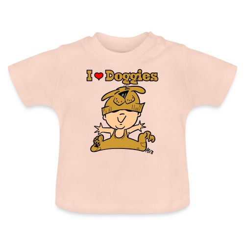 baby i love doggies color - Baby T-shirt