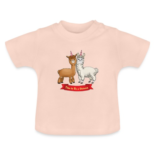 Time to Be a Unicorn 12x14 CMYK - Baby T-Shirt
