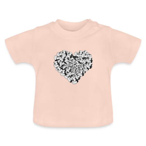heart for art street love - Baby T-shirt