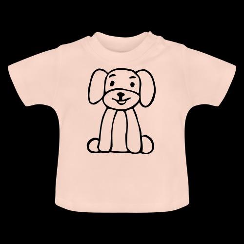hund sitzt - Baby T-Shirt
