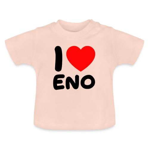 I love Eno / musta - Vauvan t-paita