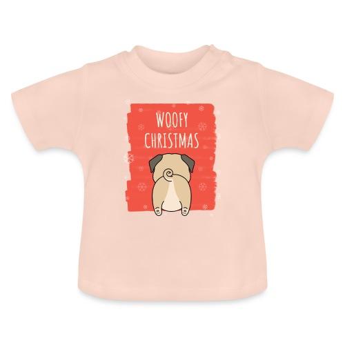 Grappige Kerstmis hond Woofy Christmas origineel - Baby T-shirt