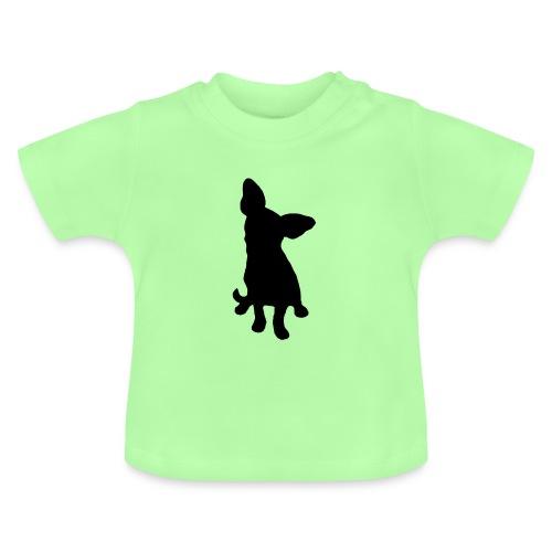 Chihuahua istuva musta - Vauvan t-paita