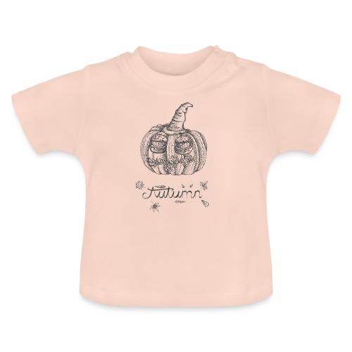 Autumn - herbstlicher Kürbiskopf - Baby T-Shirt