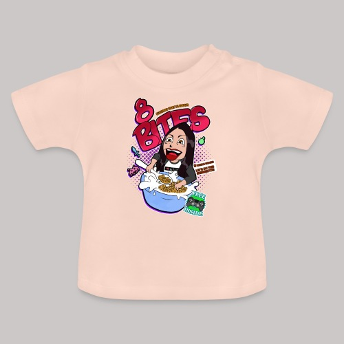 8 Bites Cereal Box Design - Baby T-Shirt