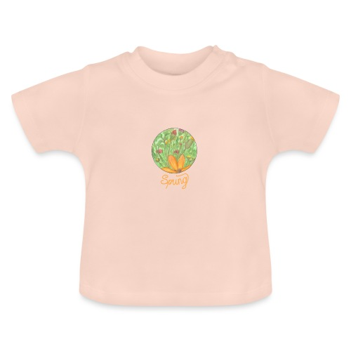 Spring - Blumenwiese im Frühling - Baby T-Shirt