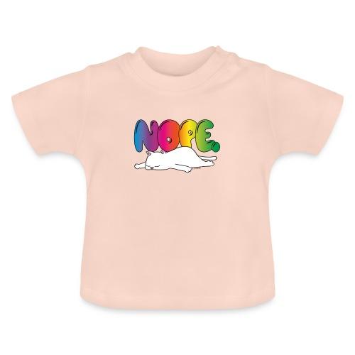 Katzenmotiv Lustig Fun Bunt Regenbogen Spruch NOPE - Baby T-Shirt