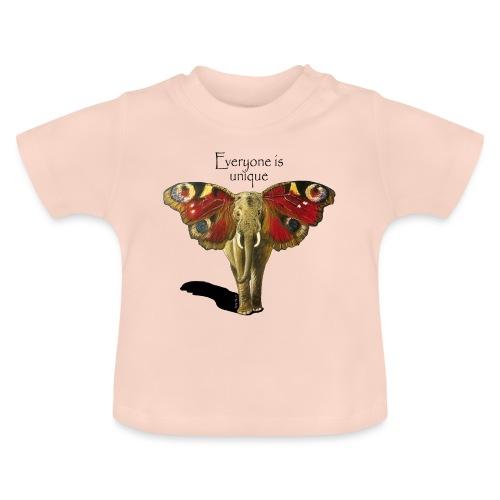 Everyone is unique – Schmettefant - Baby T-Shirt