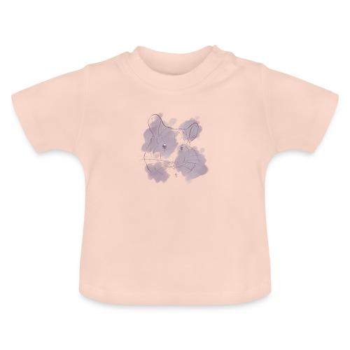 Violet splash chinchilla 2 - Vauvan t-paita