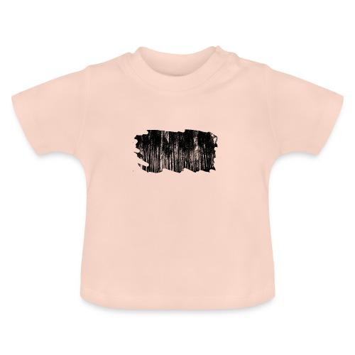 Wald schwarz weiß - Baby T-Shirt