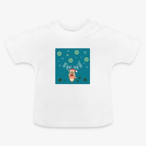 little deer blue background - Baby T-Shirt