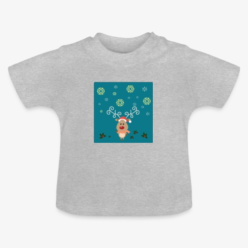 little deer blue background - Baby T-Shirt