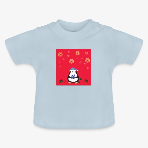 penguin red background - Baby T-Shirt
