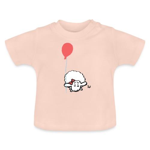 Babylam med ballong (rosa) - Baby-T-shirt