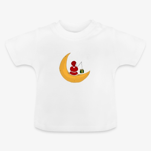 Santa sur un croissant de lune - Baby T-Shirt