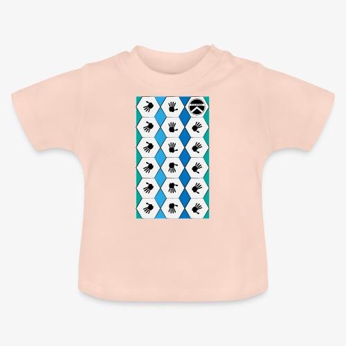 |K·CLOTHES| HEXAGON ESSENCE BLUES & WHITE - Camiseta bebé