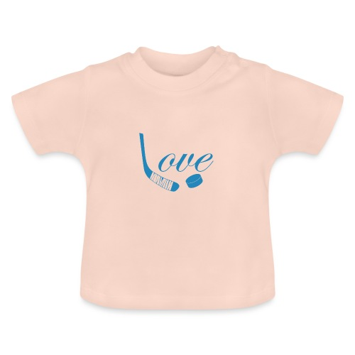 hockey love babyblue - Baby T-shirt