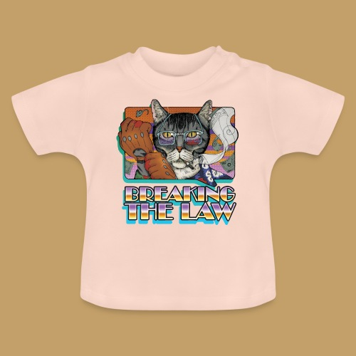 Crime Cat- Breaking the Law - Koszulka niemowlęca