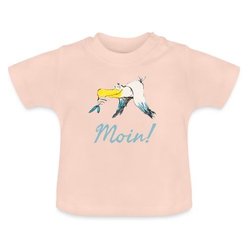 Lustige Moin Möwe von Volker Ernsting - Baby T-Shirt