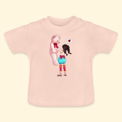 Fille au Nounours géant - T-shirt Bébé