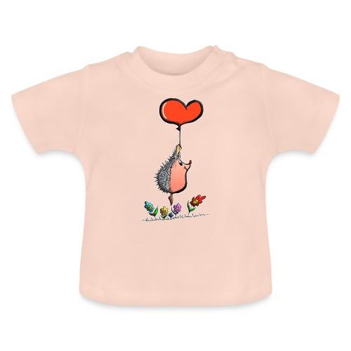 Hérisson avec une ballon pour les amoureux - T-shirt Bébé