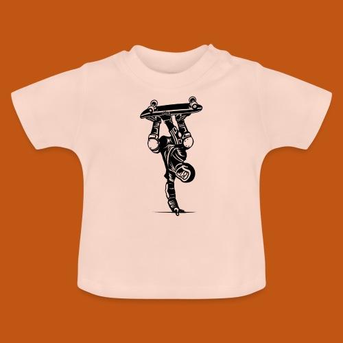 Skater / Skateboarder 02_schwarz - Baby T-Shirt