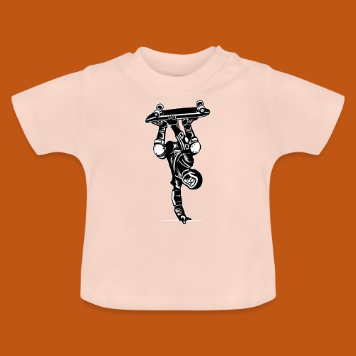 Skater / Skateboarder 02_schwarz weiß - Baby T-Shirt