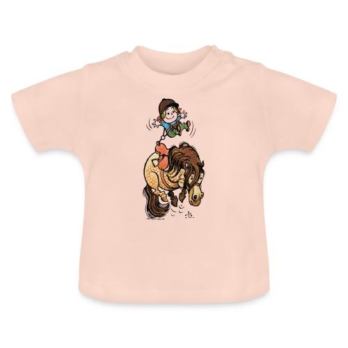 Thelwell Reiter Mit Gurt Und Buckelndes Pony - Baby T-Shirt
