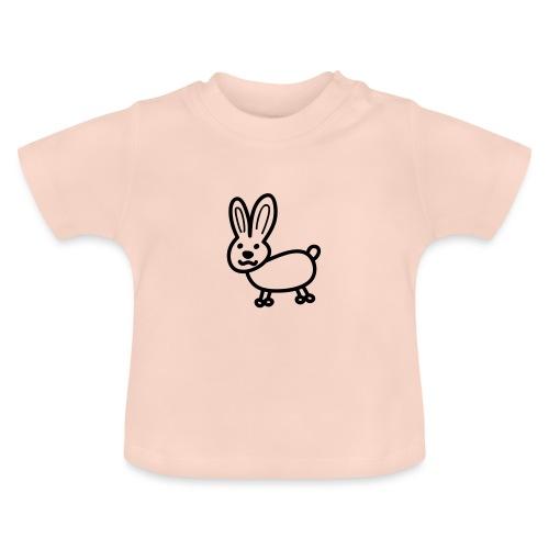 Hase Comicfigur - Baby T-Shirt