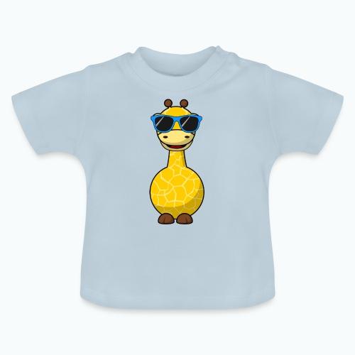 Gigi Giraffe with sunglasses - Appelsin - Baby-T-shirt